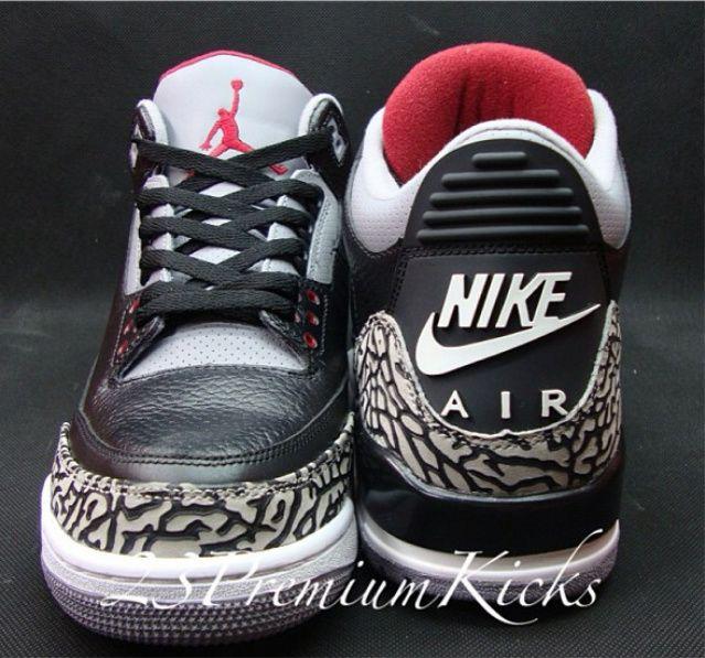 Black · Air Jordan 3 Retro '88 Black Cement
