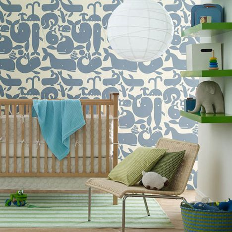 @Laura Callahan, I feel like your sister would love that wall paper, even if she is too old to live in a nursery.
