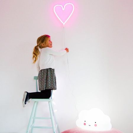 Neon01 lr neon style light heart pink