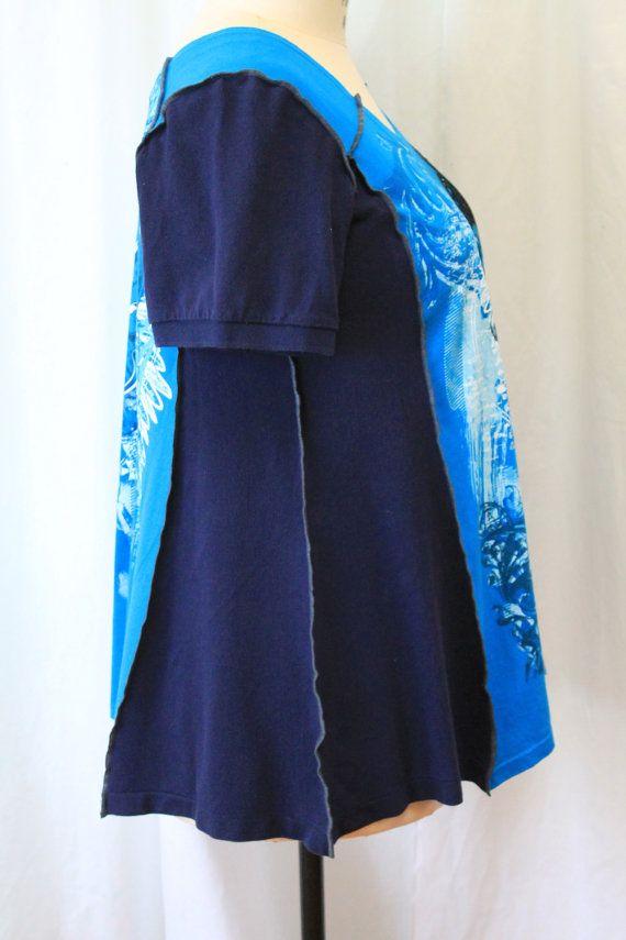 Gothic Tunika Blau Plus size Kleidung der städtischen von MilaLem
