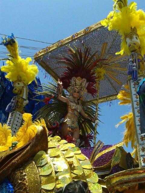 Carnavales 2014 Las Tablas, Reina Calle Arriba de Las Tablas. Los Santos.