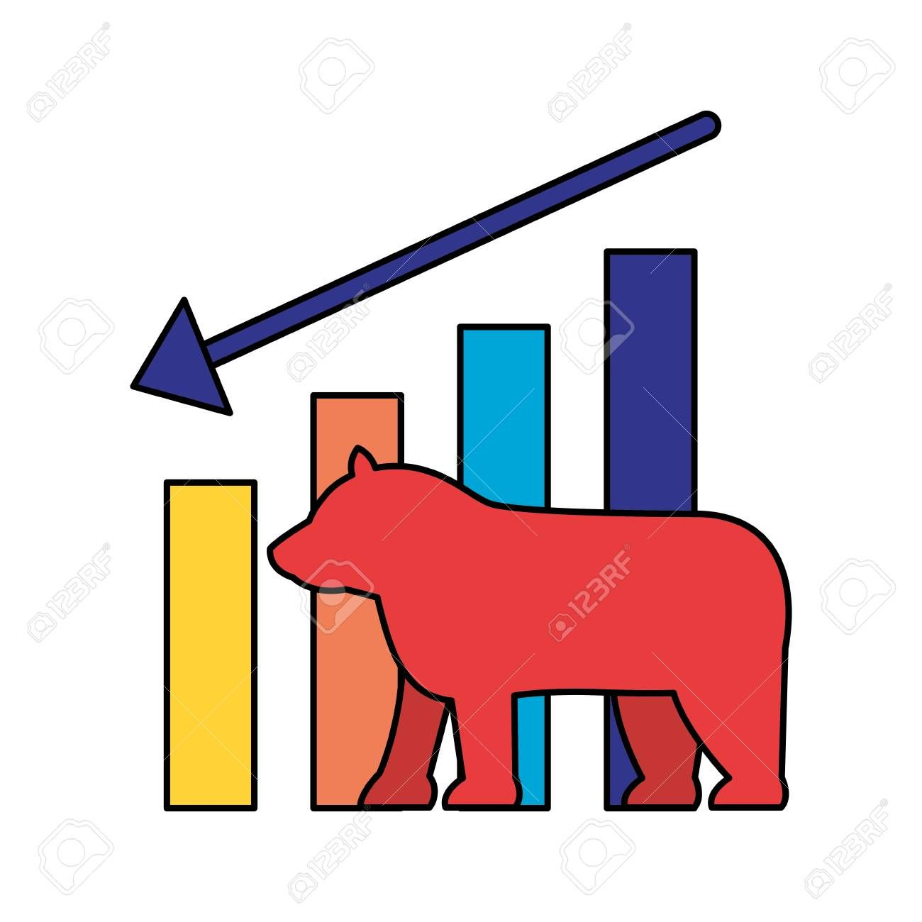 Bear Downtrend Stock Market Symbol Vector Illustration Affiliate Stock Downtrend Bear Market Illustration In 2020 Symbols Vector Illustration Illustration