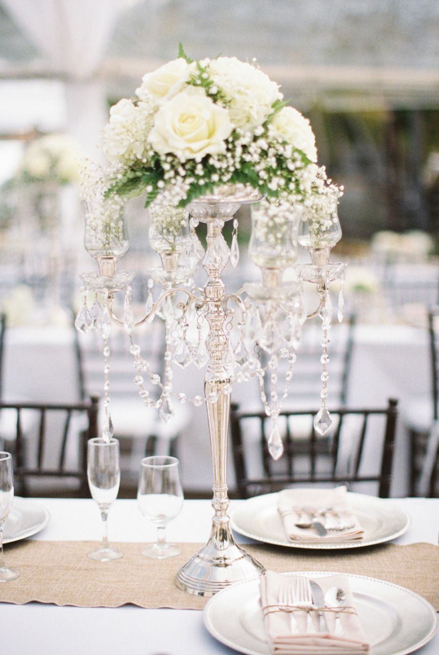 Wedding centerpieces extravagant or simple wedding for White wedding table decorations