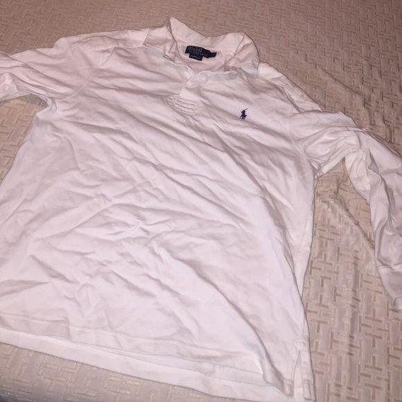 Ralph Lauren polo Ralph Lauren Polo long sleeve size XL color white blue  horse Ralph Lauren Shirts Tees - Long Sleeve 71bf13a41531
