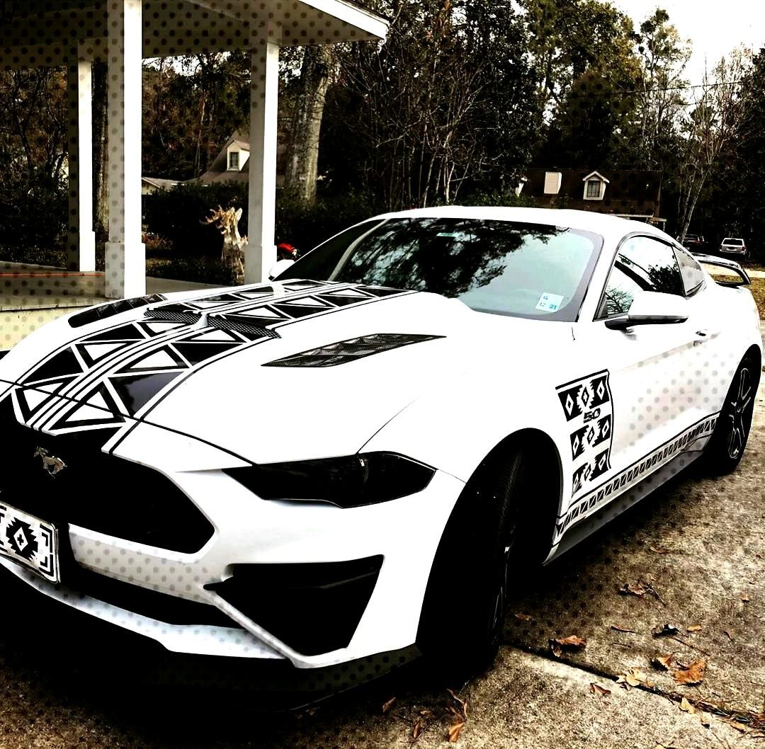 stripes on the side!#fordmustanggtFinished stripes on the side!#fordmustanggt