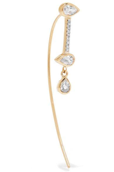 Maria Black Novelli 14-karat Gold Sapphire Earring wmy6SSdU