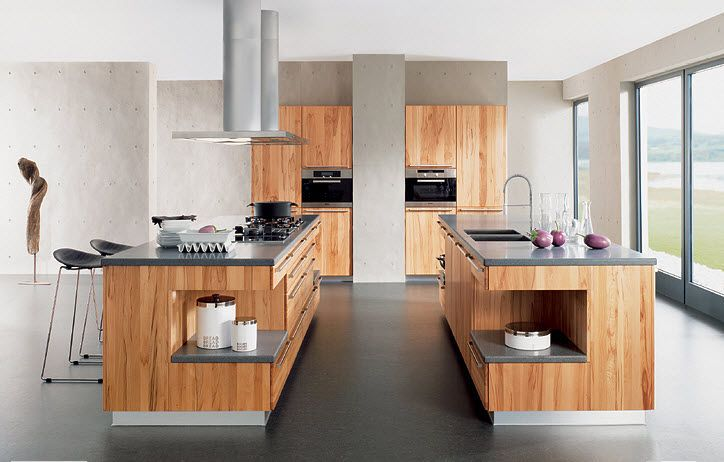 contemporary solid wood kitchen (oak) RONDO by Karl Auer TEAM 7 - küchen team 7