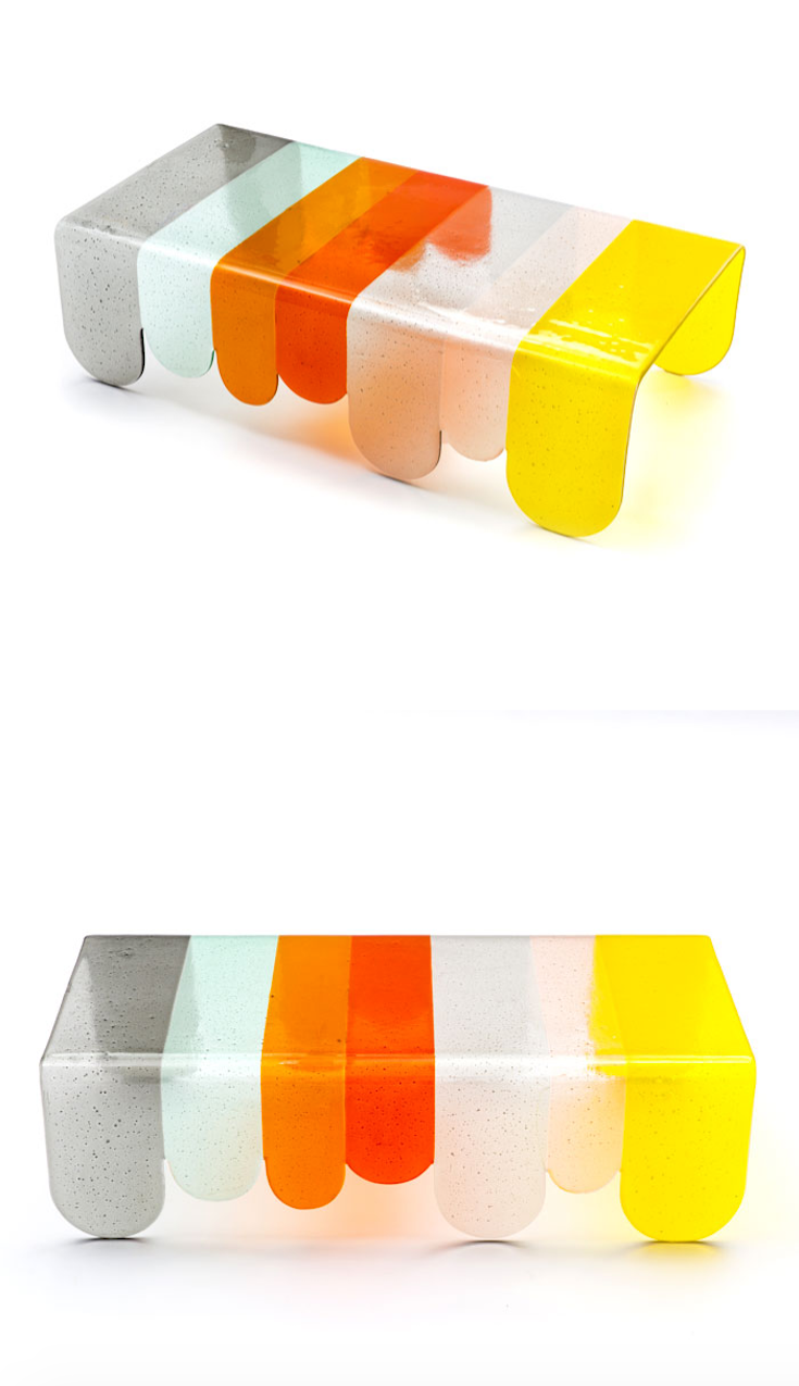Coffee Table from Murano Glass by Alessandro Zambelli for Secondome