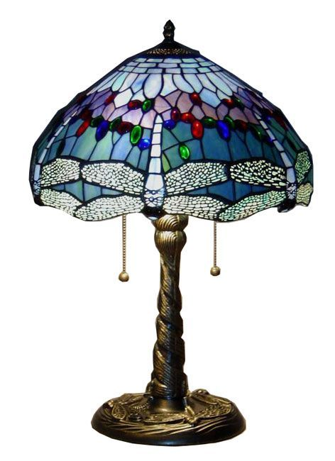 Tiffany Style Blue Dragonfly Table Lamp Overstock Com