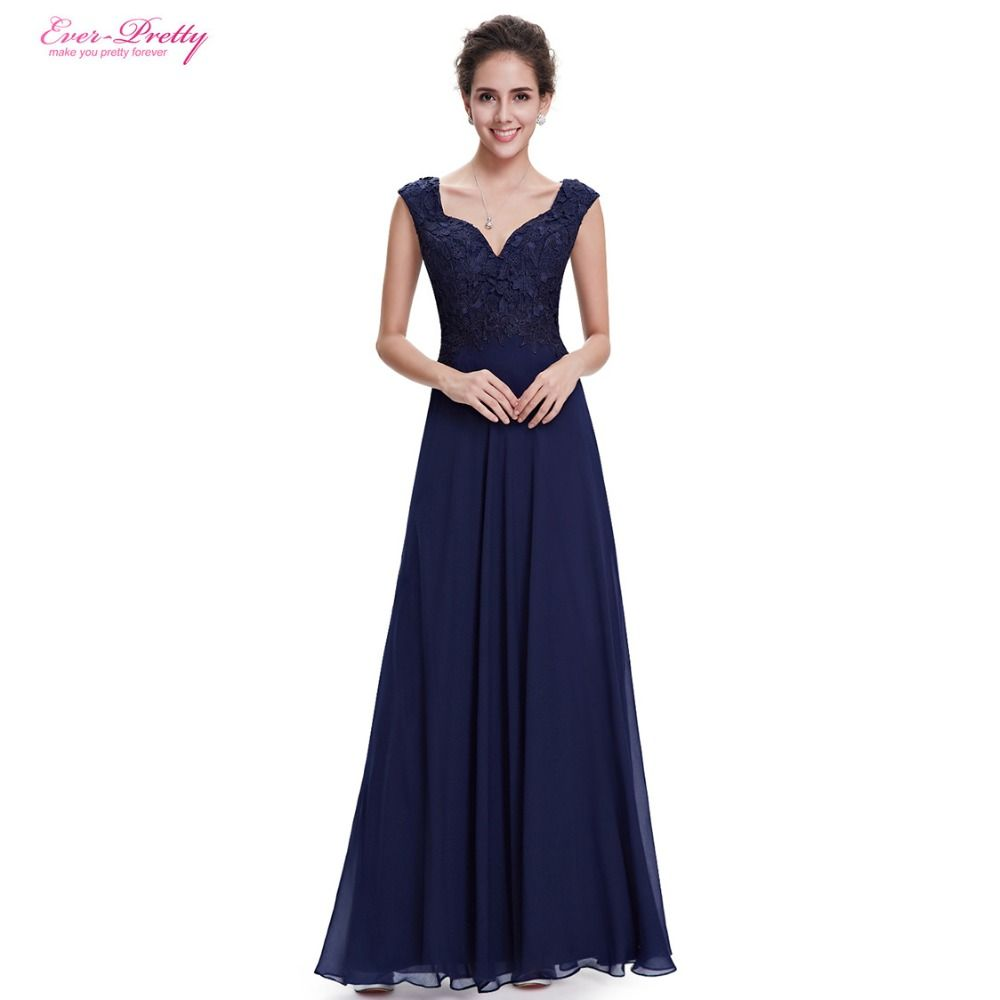 Clearance Sale] Evening Dresses Ever Pretty HE08598 V Neck Lace Long ...