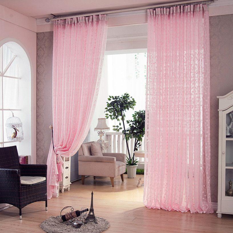 Yarn curtain Pink Window tulle Translucidus Curtains Modern Window ...