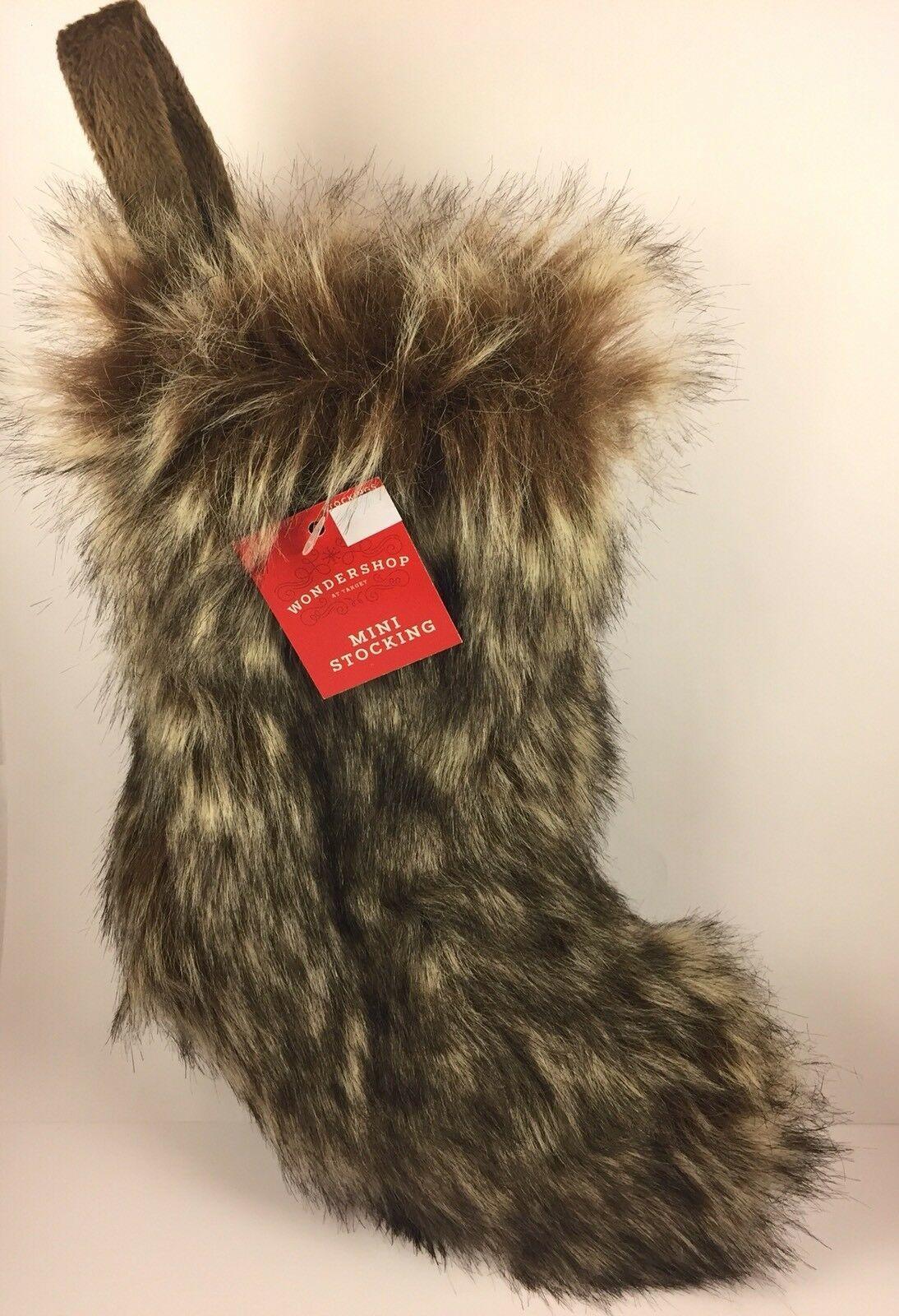 Thick Faux Fur 9 Mini Christmas Stocking Soft & Plush