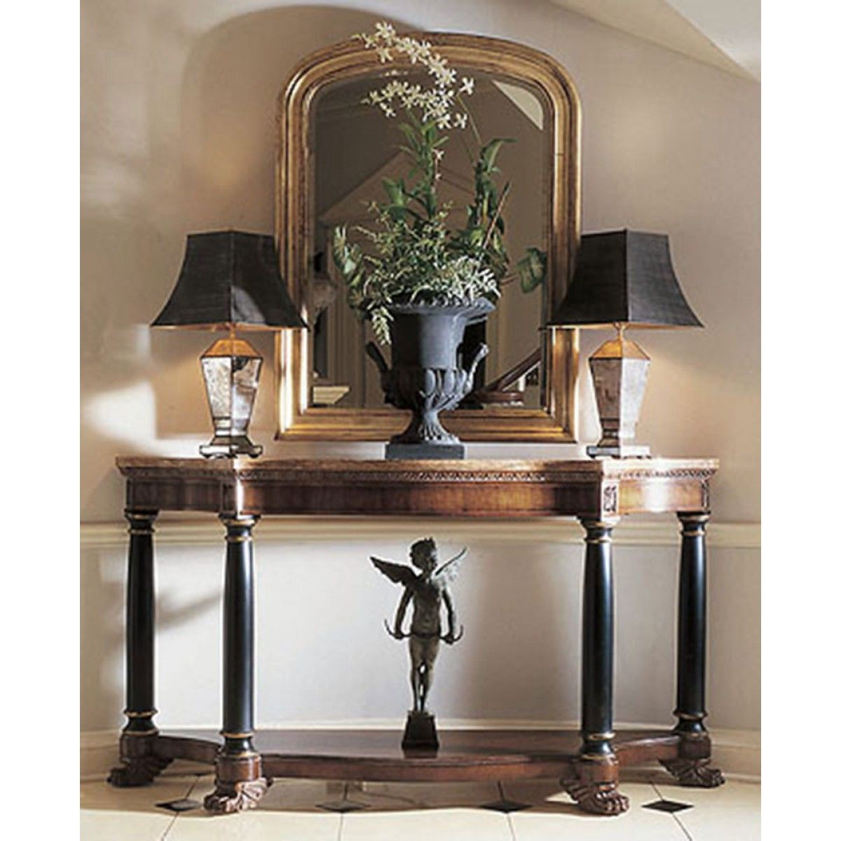 Century EMPIRE CONSOLE WITH MARBLE TOP Entryway decor