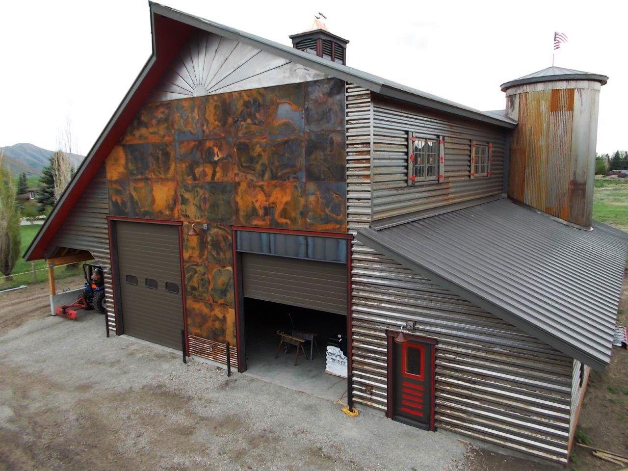 Vintage Standing Seam Corten Siding Flats Corrugated Metal Siding Metal Building Designs Corrugated Metal Wall