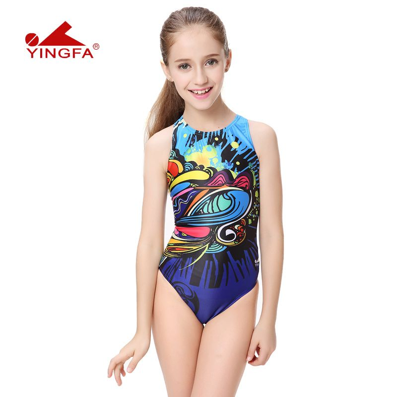 fd451021d77d1 Yingfa one piece women swimwear kids swimming racing suit competition  swimSwimSuits girls professional swim solid child LA <3 This is an Amazon  Associate's ...