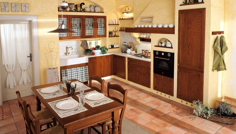 Esempi Di Cucine In Muratura Fai Da Te Con Mosaici Azzurre Only ...