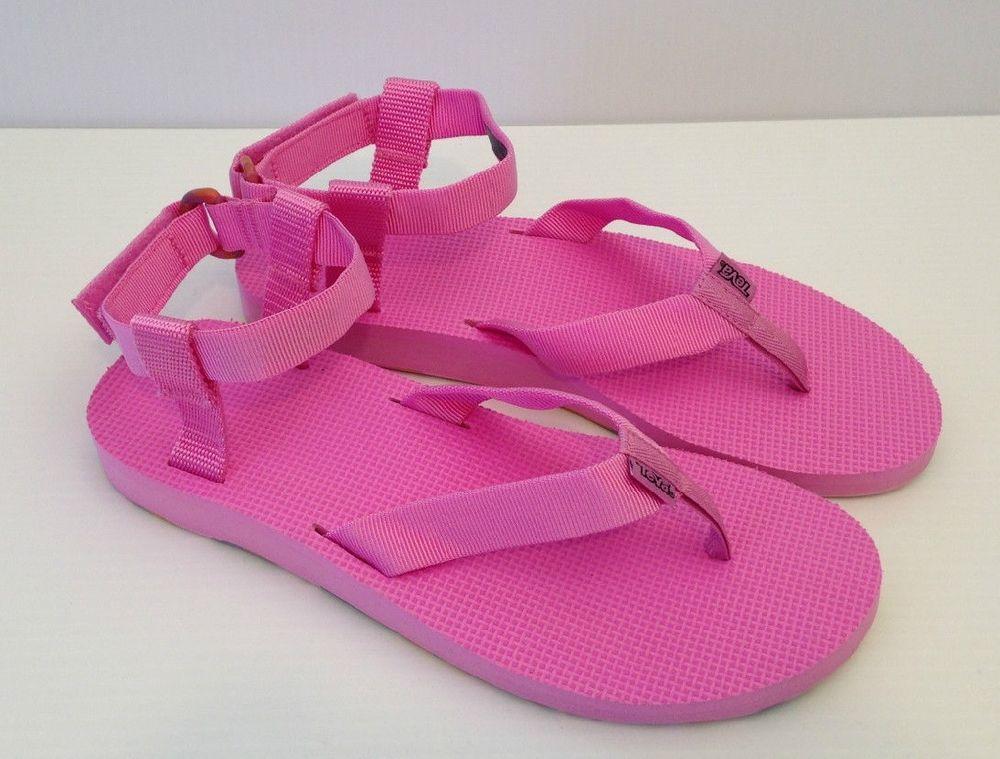 9039122ed5a6 NEW Teva Original Sandal Marbled Thongs Sandals Pink WOMENS 11  Teva ...