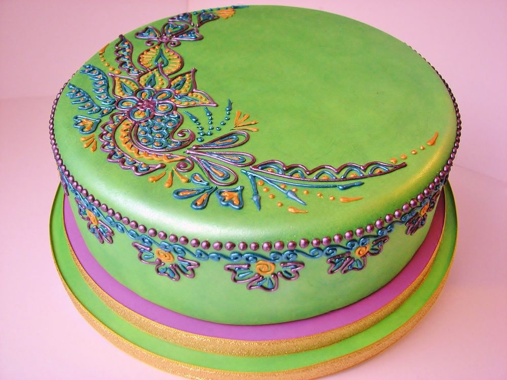 Mehndi Inspired Cake : Pin by peony on royal icing cakes and techniques
