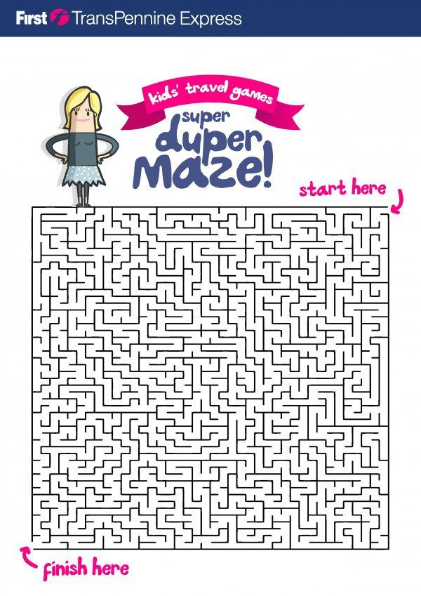 free printable maze activity sheet for kids - Kids Activity Printables