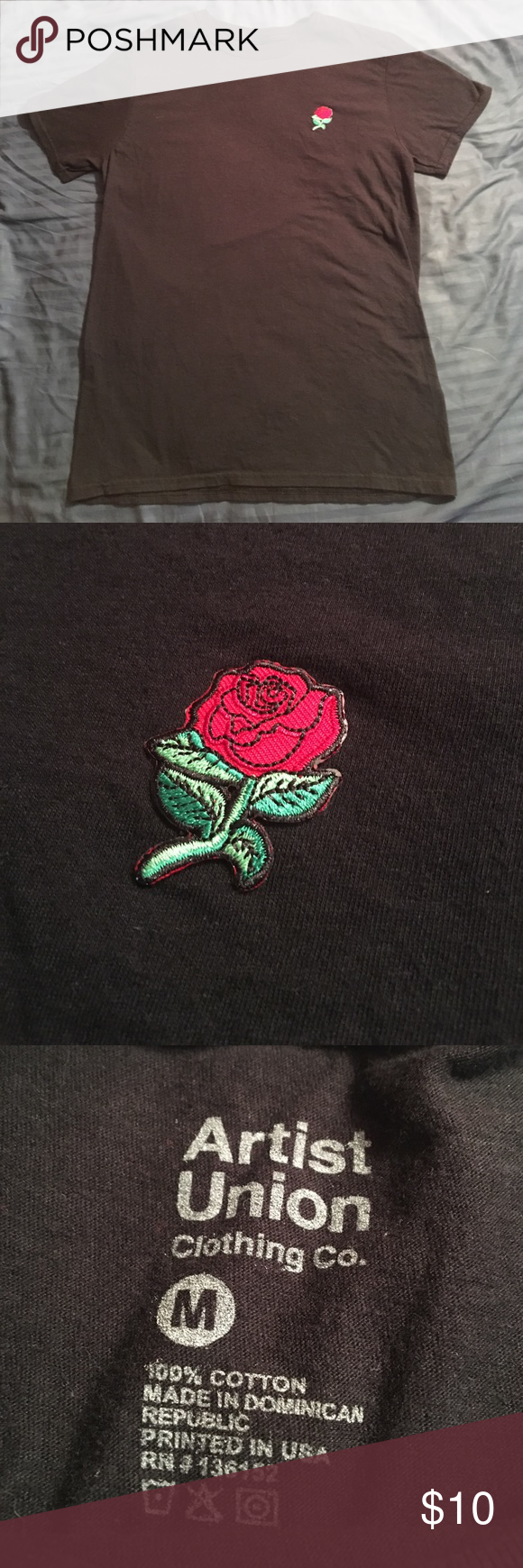 Artist Union Rose Shirt M Pre Owned But In Very Good Condition