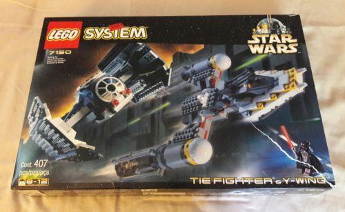 Star Wars Lego 7150 Tie Fighter Y Wing Used Woriginal Box