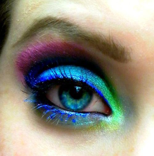 Rainbow Eye Shadow Makeup Eye Makeup Unique Makeup