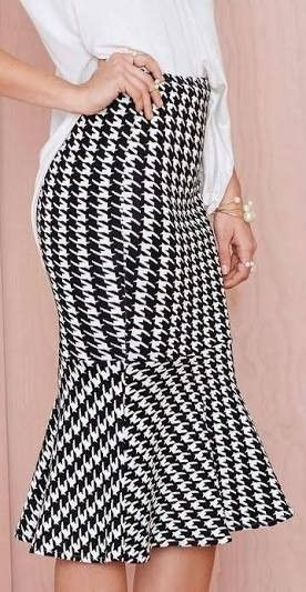 abd15ed9e Falda elegante   Costura ,máquina de coser y overlock   Moda faldas ...