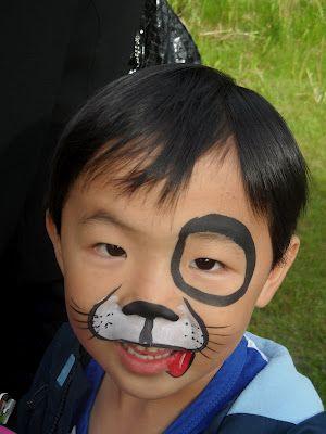 simple dog face paint