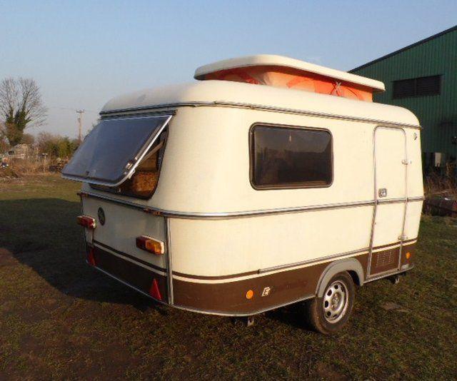 Cute camping - #Preloved 1982 Eriba Pan with sun canopy ...