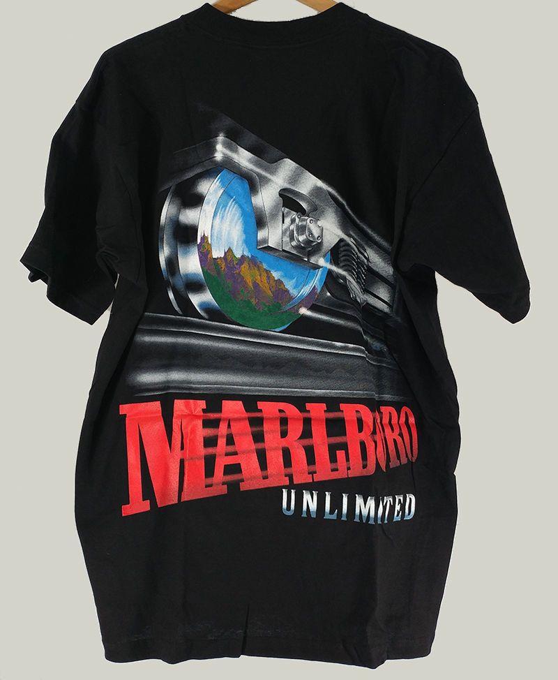 1f5d72d82da Marlboro Unlimited Vintage 90s Promo Pocket Shirt Tee T-Shirt Black OS   Marlboro