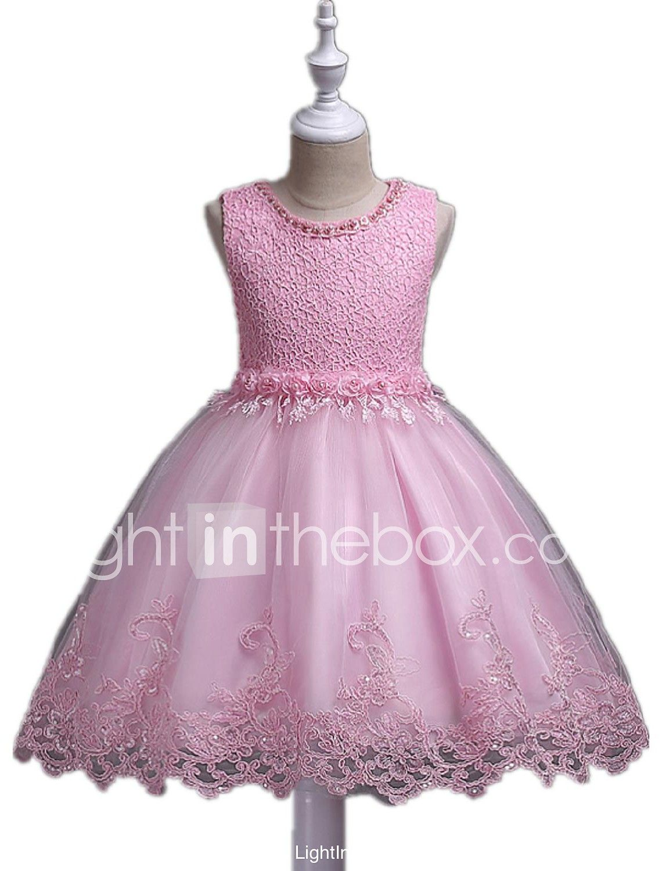 Vestido de bola corta / mini vestido de niña de flor - organza ...