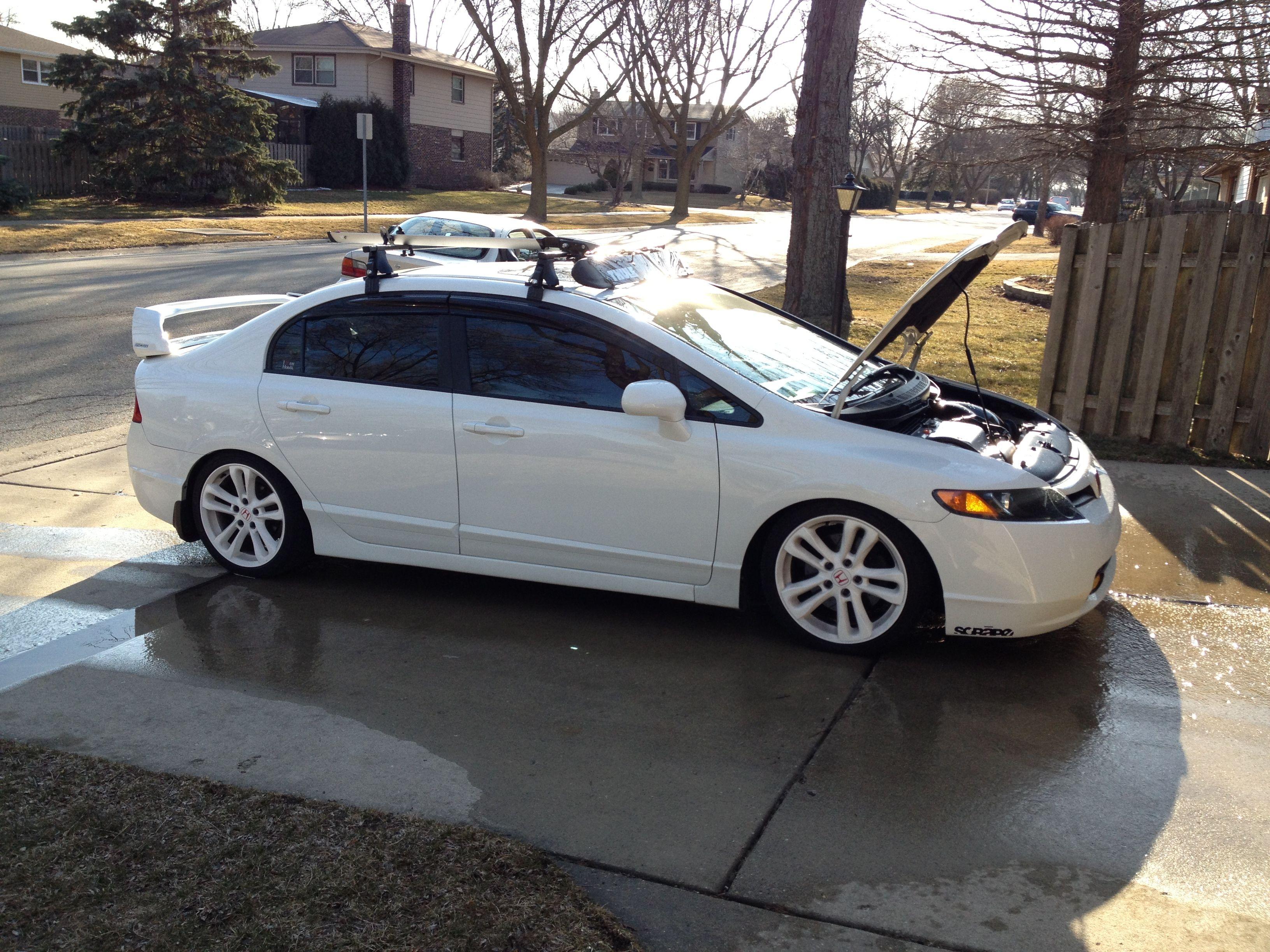 White honda civic si cars pinterest for Honda civic si white