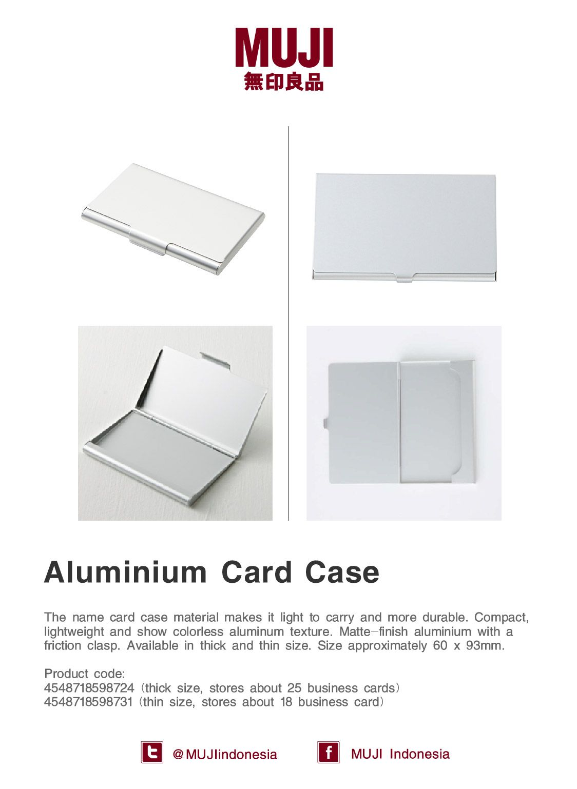 Business Card Case series] Made from aluminium, makes it compact ...