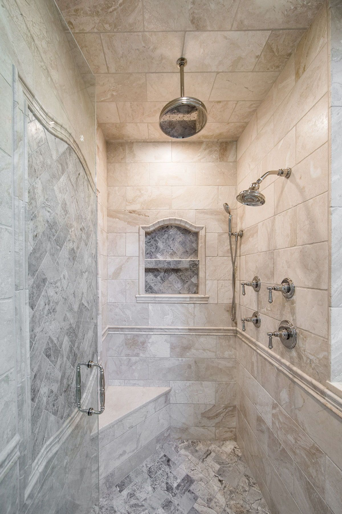 Custom Master Stone Walk in Shower Linly Designs