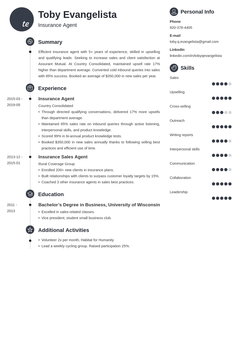 insurance agent resume example template primo | Resume ...