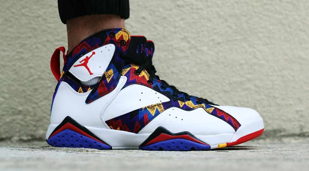 Check Out the 'Nothing But Net' Air Jordan 7 On Foot | Air