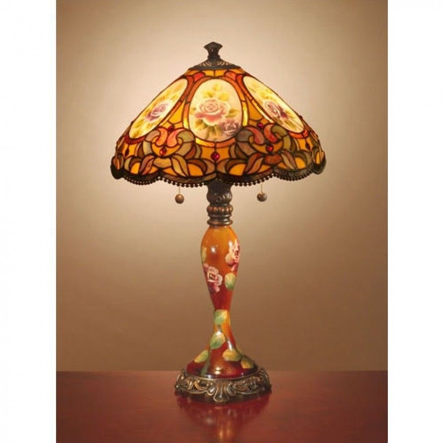 dale tiffany lamps antiques roadshow hand painted series scoville