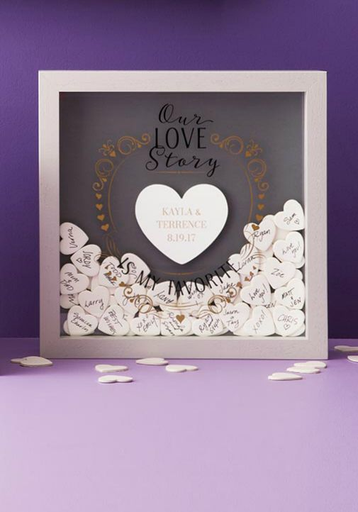 This Wedding Guest Book Is A New Take On An Old Tradition Celebrate A Love That Will La Guest Book Shadow Box Wedding Guest Book Wedding Shadow Box Guest Book
