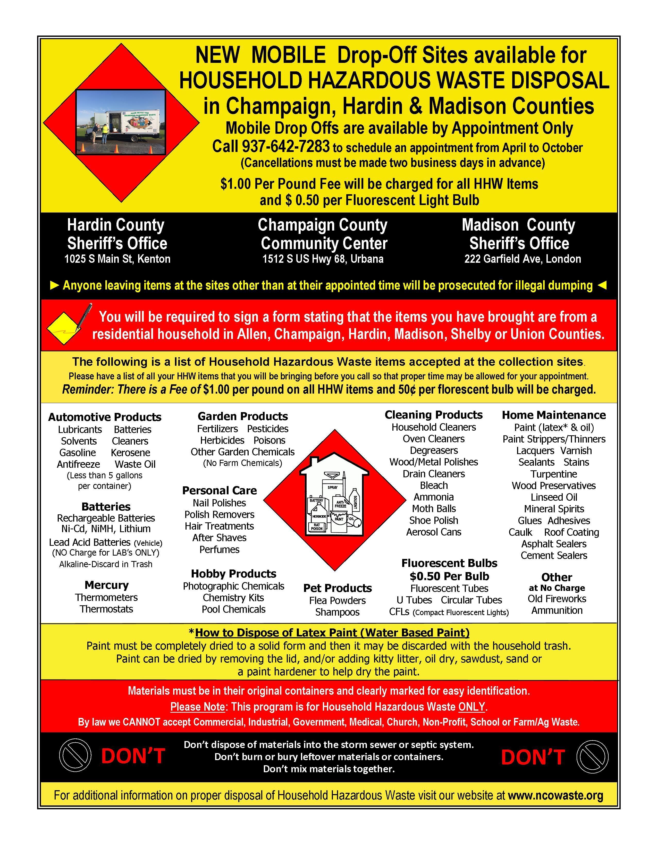 Household Hazardous Waste Disposal Household Hazardous Waste Hazardous Waste Waste Disposal