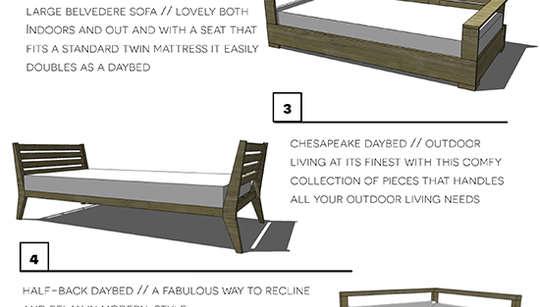 Four DIY Outdoor Daybeds to Liven up Your Outdoor Living ... on Living Spaces Outdoor Daybed id=64846