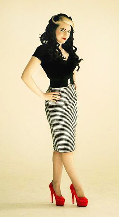 Black and White Pencil Skirt 51041ea4426