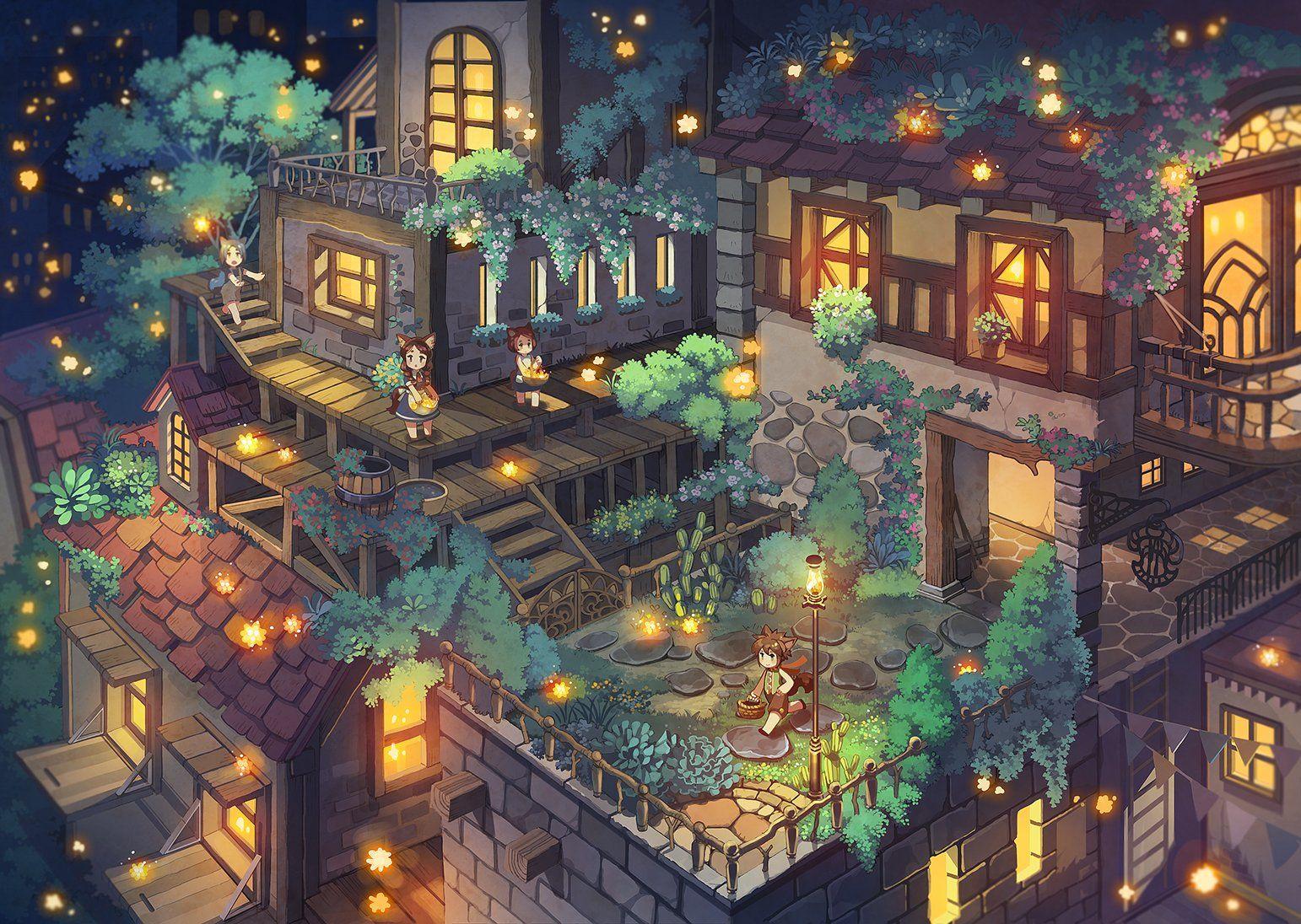 43ふじ On Anime Scenery Fantasy Landscape Environment Concept Art