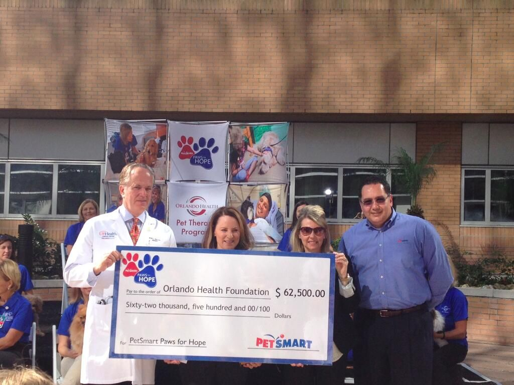 PetSmart presents its donation of 62,500 to help fund our