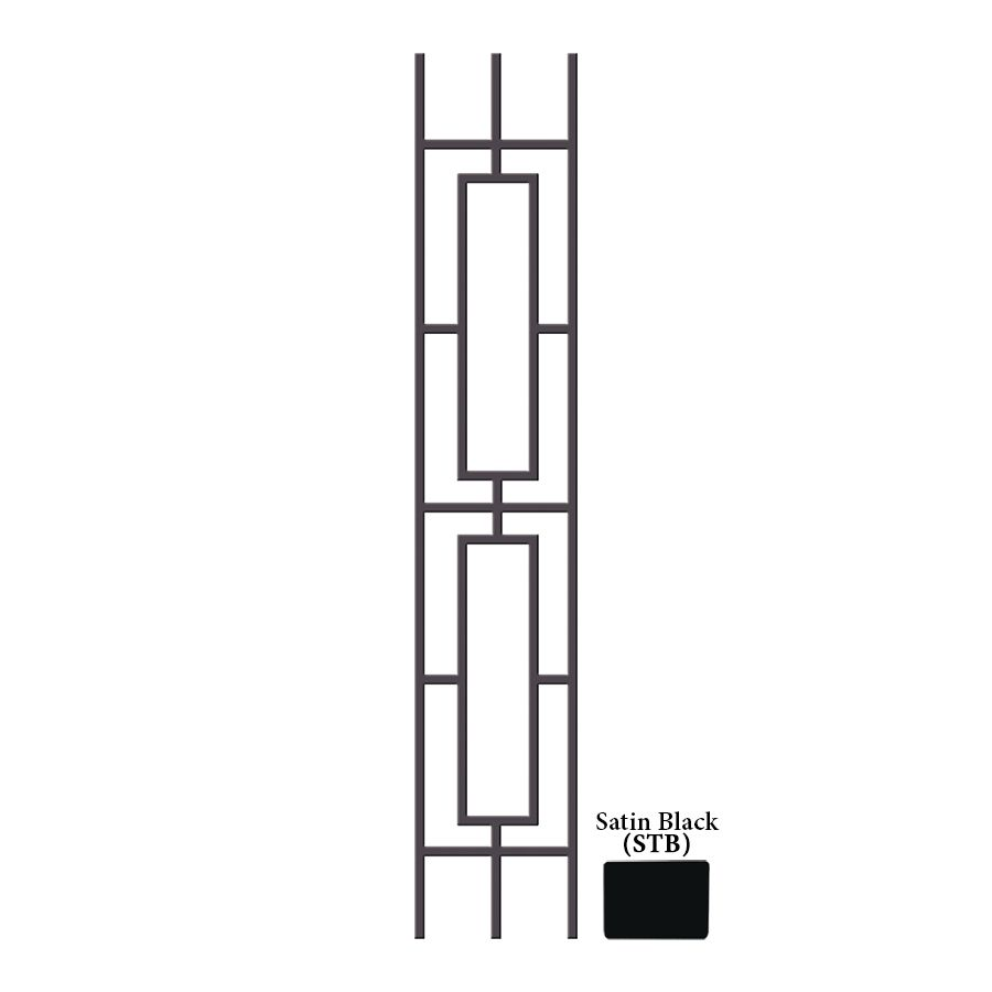 Best Shop House Of Forgings Aalto 44 In Satin Black Wrought 640 x 480