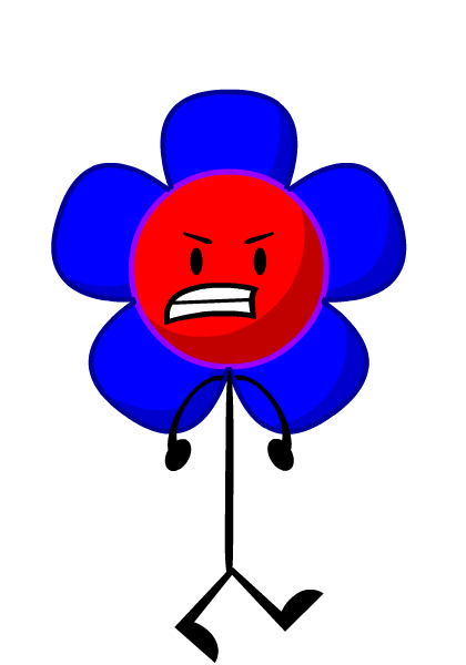 Image result for bfdi characters puffball   Red and blue flowers