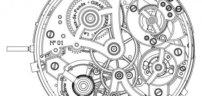 engranajes de reloj dibujo