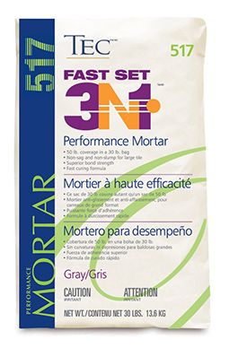 TEC- Fast Set 3N1 Performance Mortar | Polymer Modified Fast Set Mortars | Floor Covering Installation Supplies l The Source Company www.thesourcecompany.com