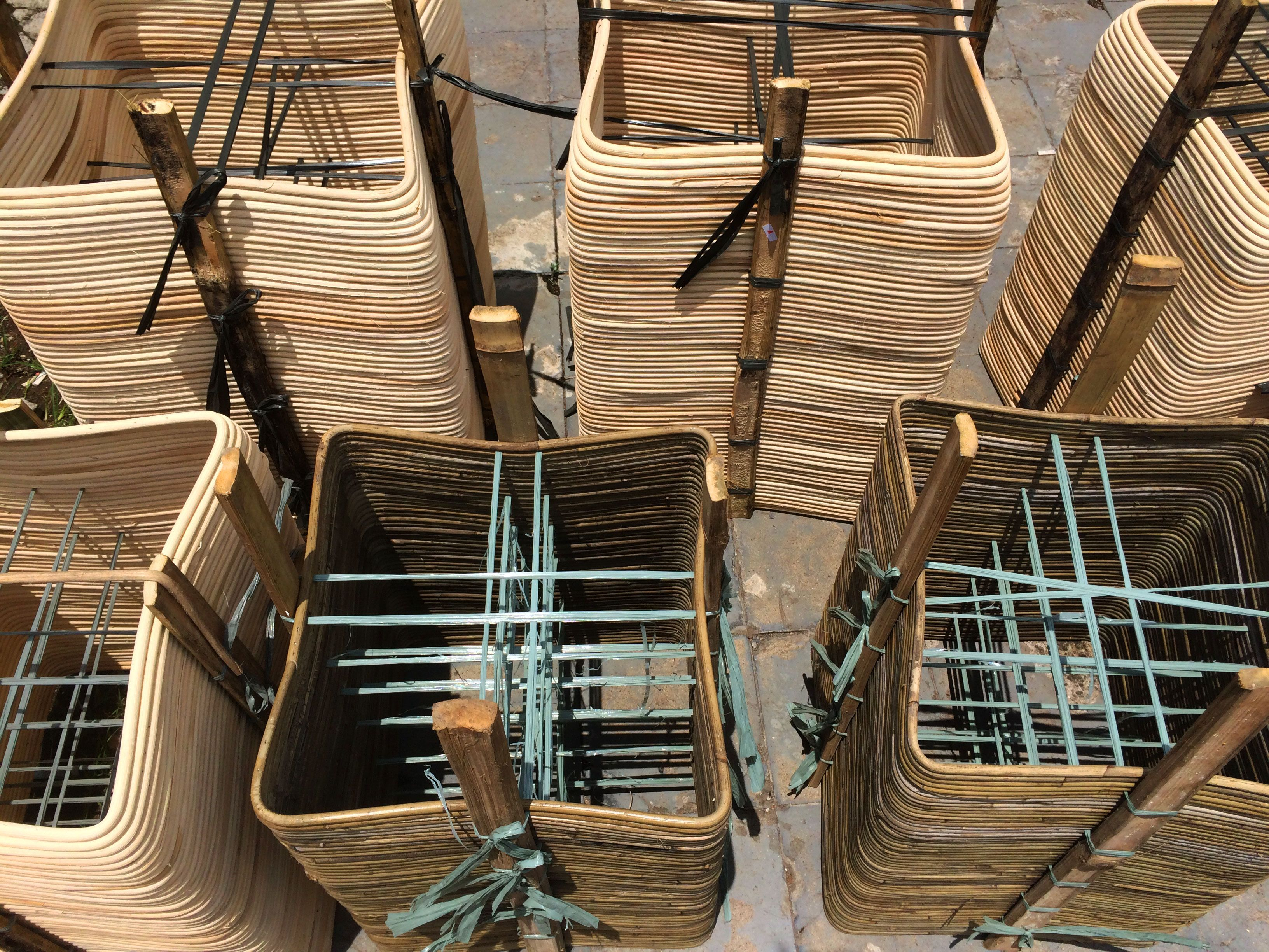 Rattan Drying Process Rattan Factory Wicker Baskets