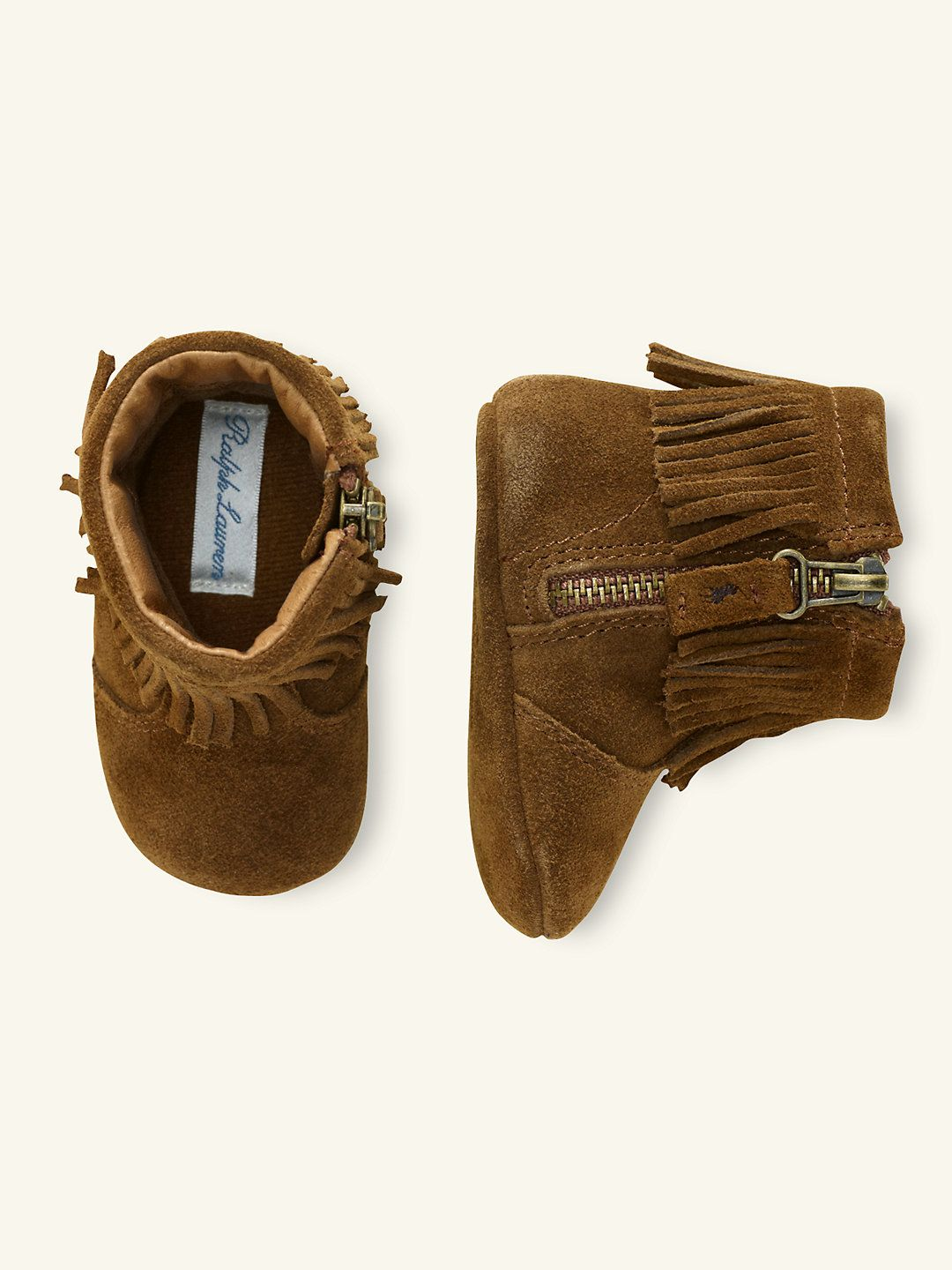 Papoose Fringed Boot | Baby shoes, Baby