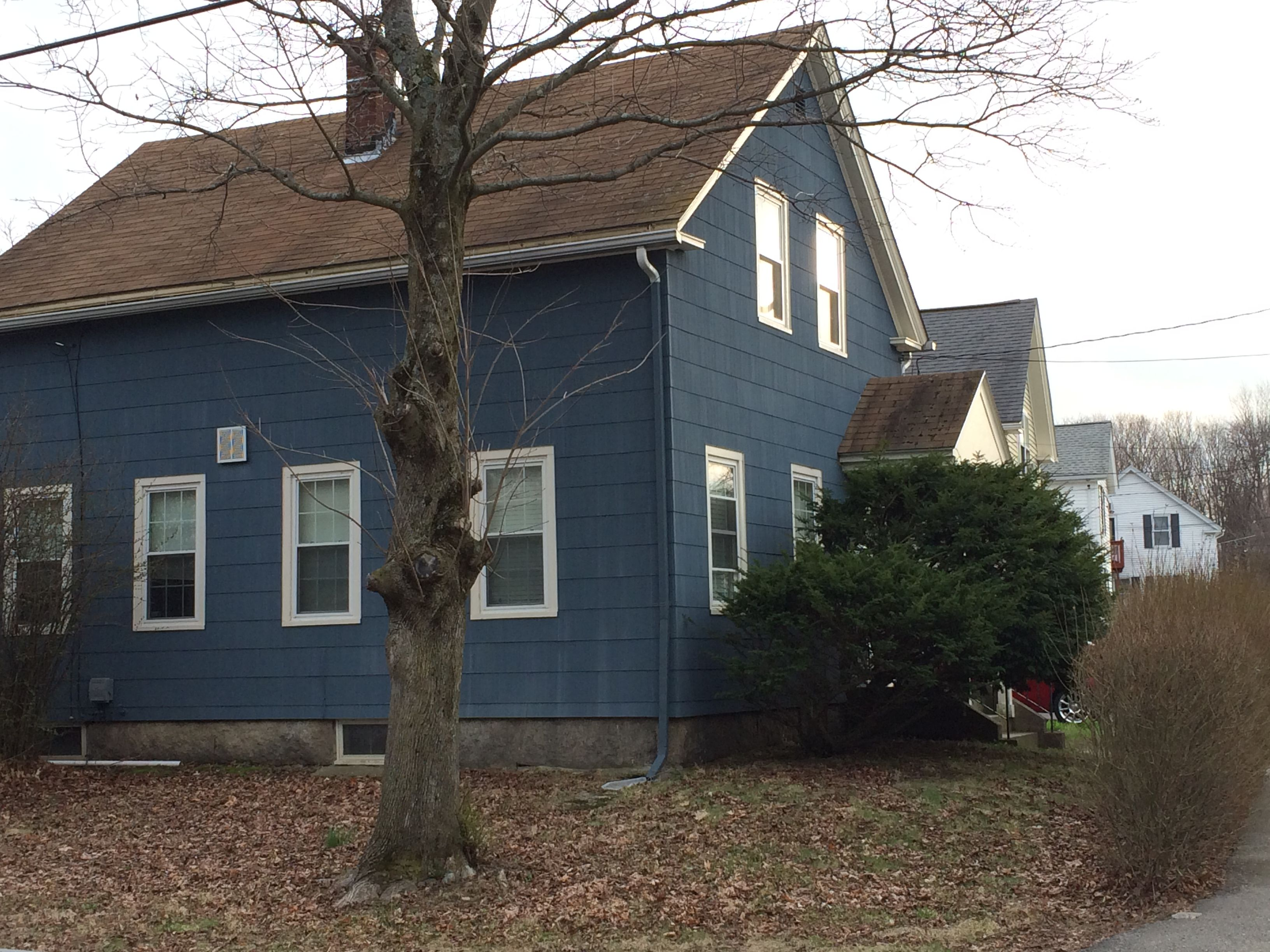 Dark Blue Asbestos Siding Historic Homes Westborough Ma